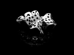 Dices in the glass